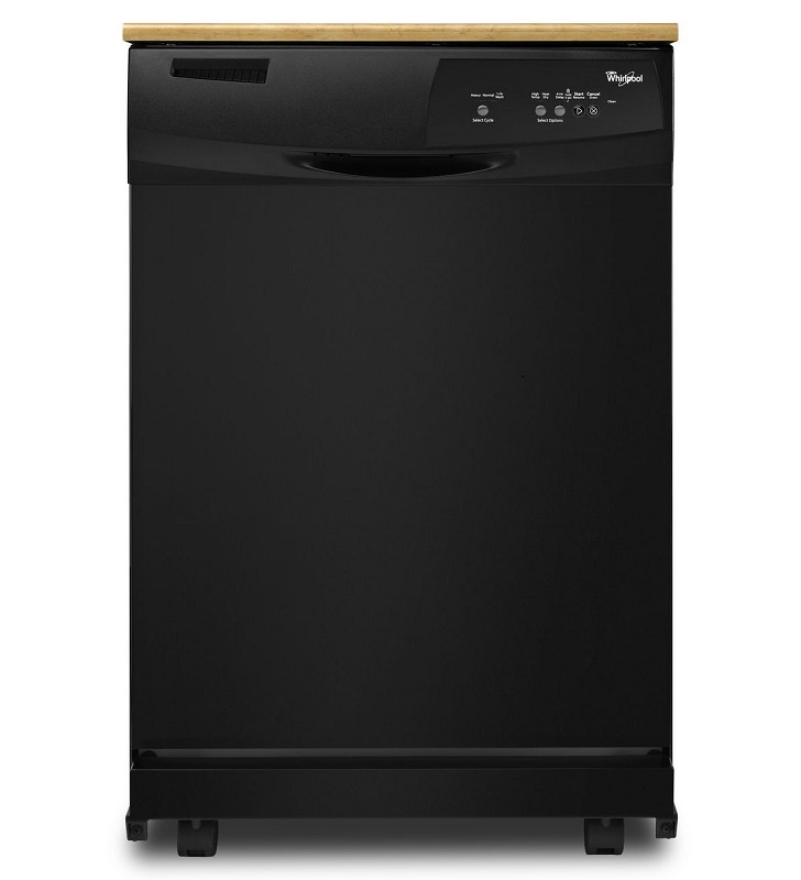 Whirlpool Portable Black Dishwasher WDP350PAAB