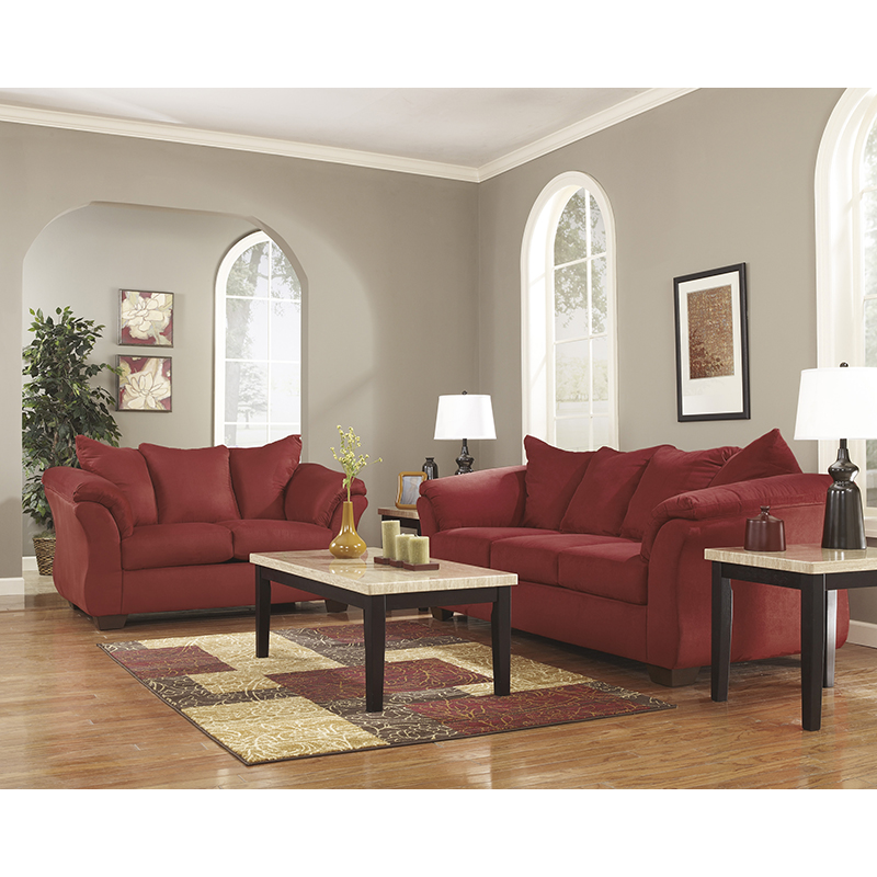 Ashley Discount Furniture Store: Ashley 75001 Darcy Salsa Sofa & Loveseat