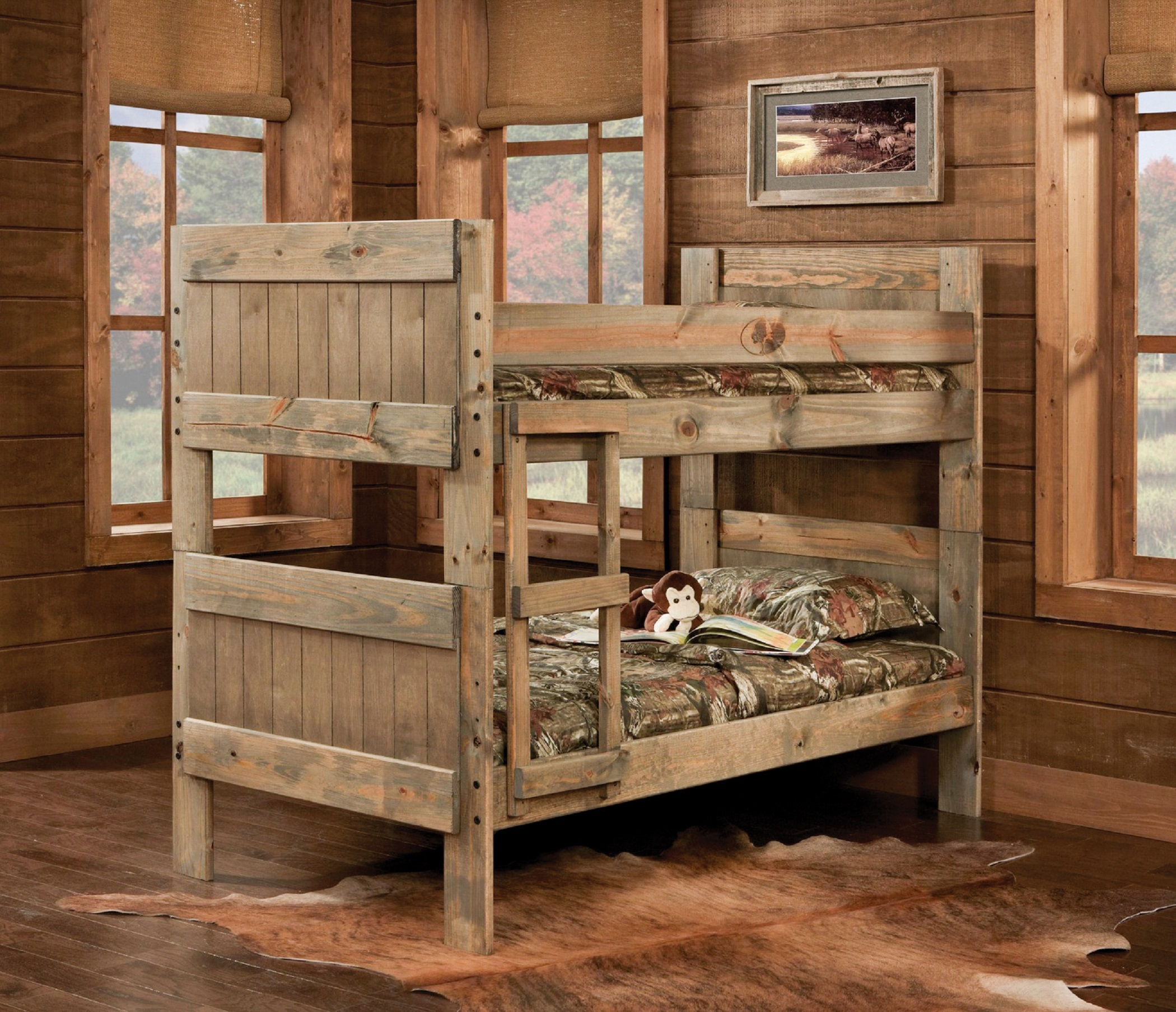 Simply Bunk Beds 511 3pc Mossy Oak Twin Twin Amp Ladder Bunkbed
