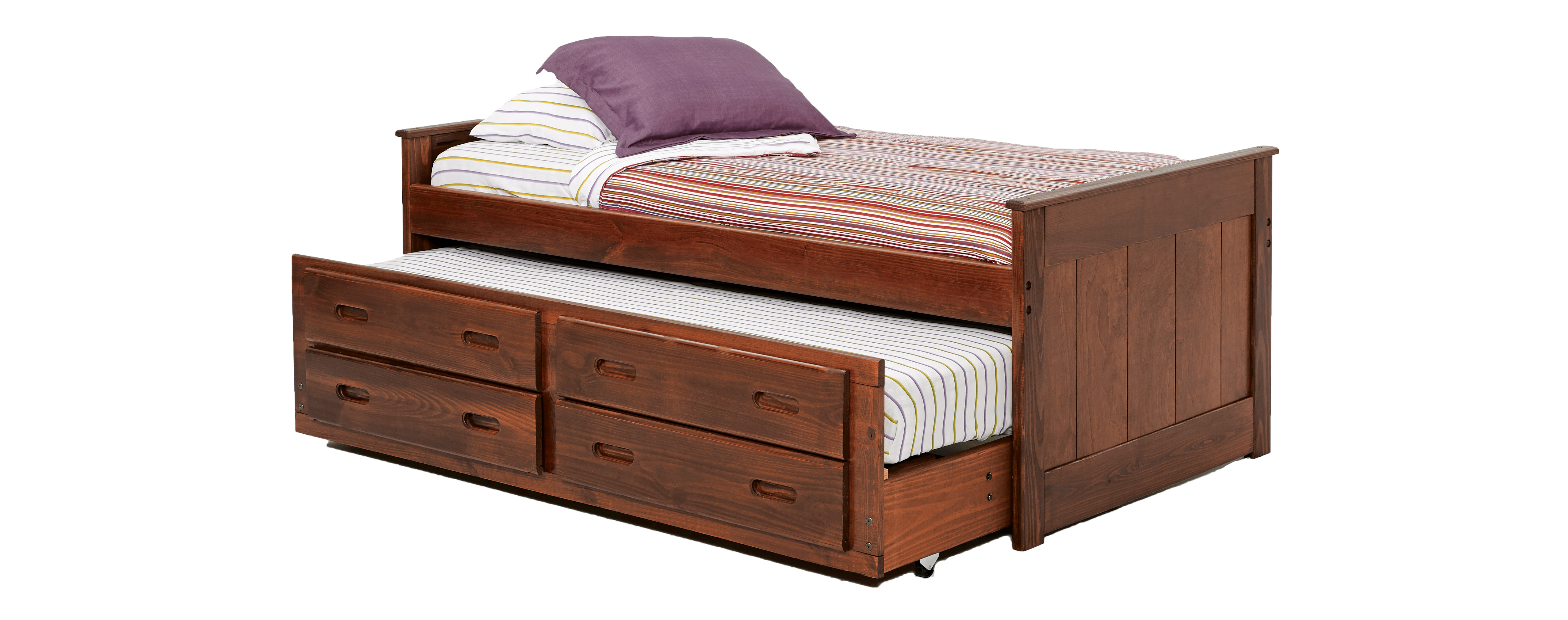 Simply Bunk Beds 234 Captain Bed W Trundle Bunkbed