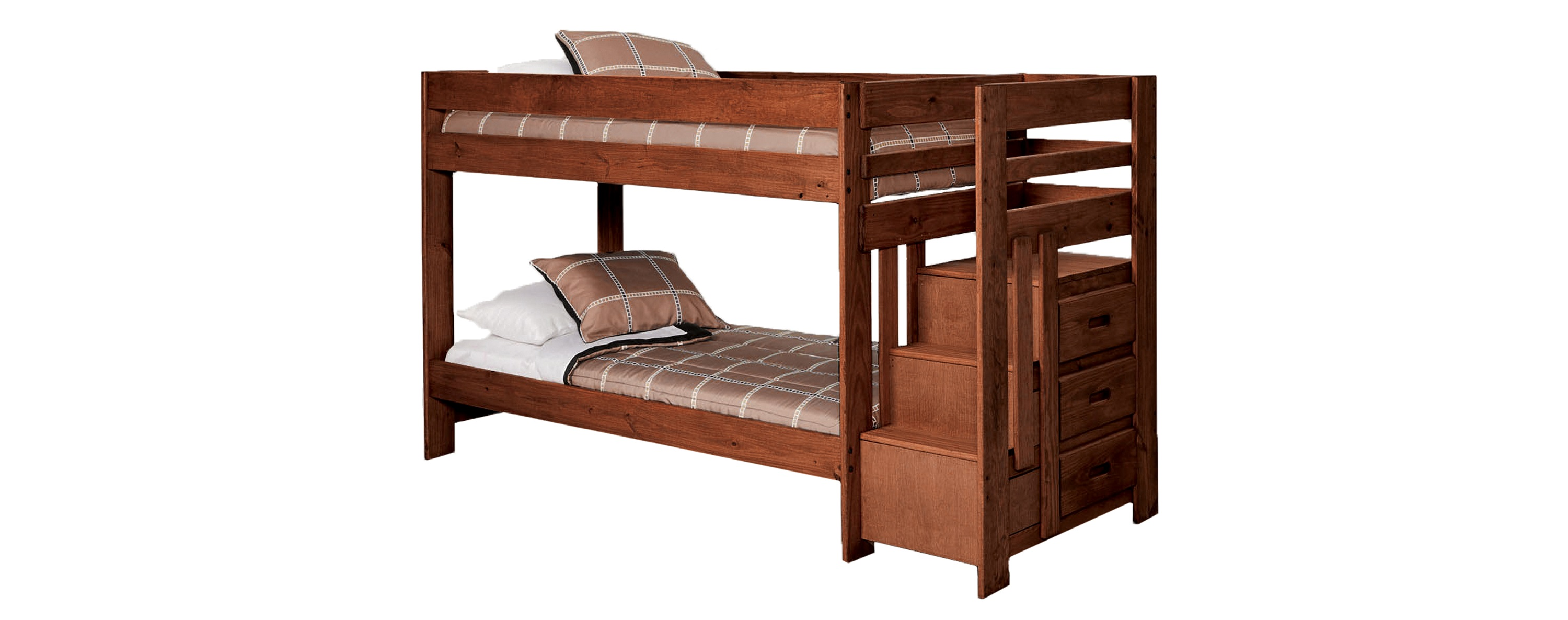 Simply Bunk Beds 2087 Twin Twin Stairstep Bunkbed