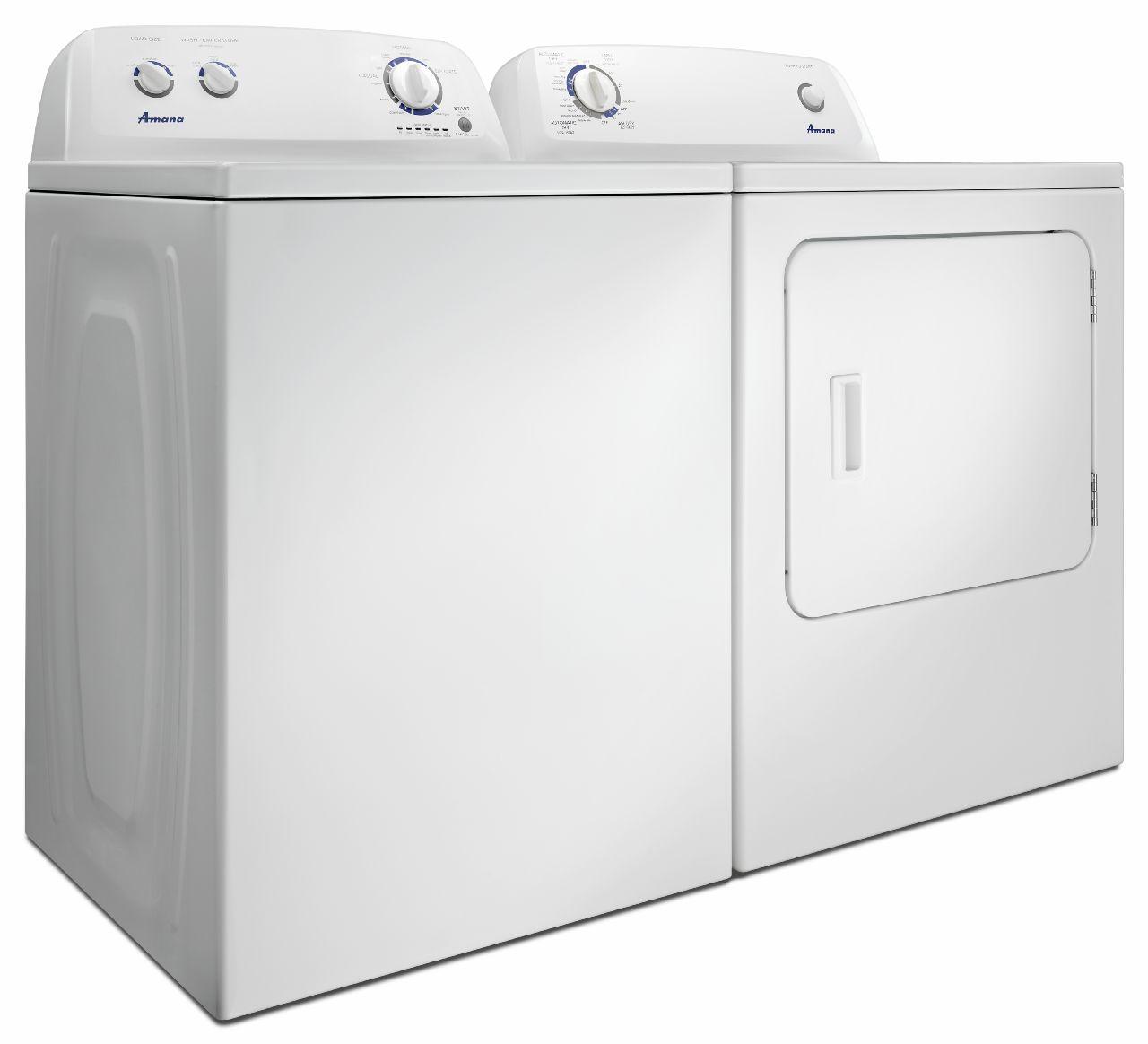 Amana Washer & Electric Dryer Pair NTW44516fW & NED4655EW